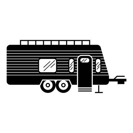 Camper trailer icon, simple style Ilustração