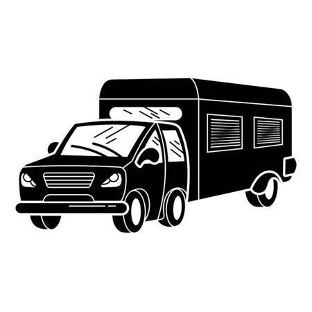 Family caravan icon, simple style Ilustração