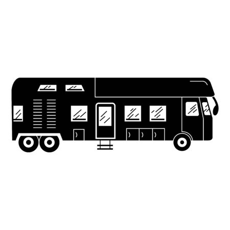 Luxury caravan icon, simple style