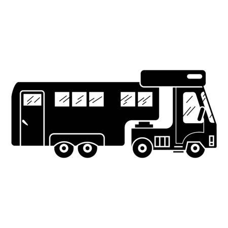 Caravan icon, simple style Ilustração
