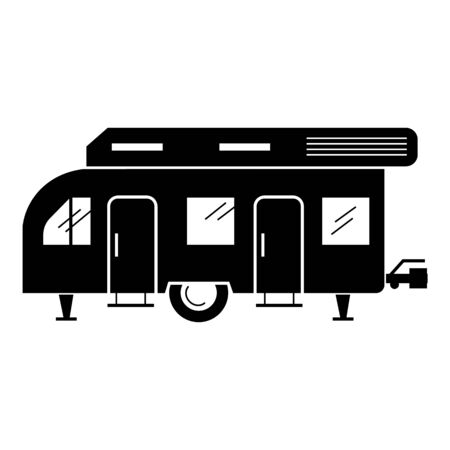 Recreation caravan icon, simple style 向量圖像
