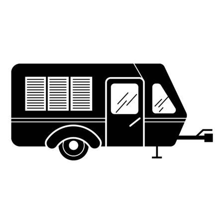 Transport caravan icon, simple style