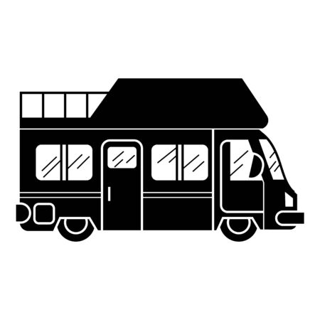 Vacation caravan icon, simple style