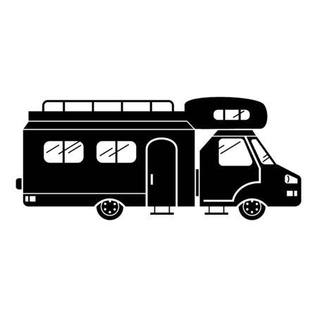 Resort caravan icon, simple style