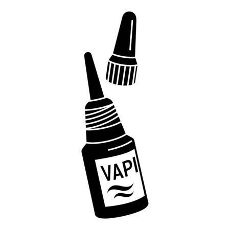 Vape liquid bottle icon, simple style