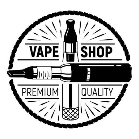 Vape shop, simple style