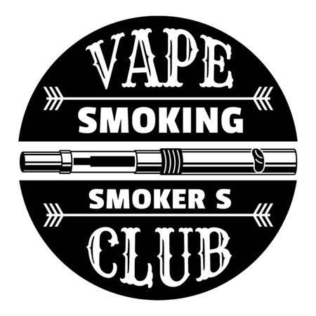 Vape smoking club, simple style  イラスト・ベクター素材