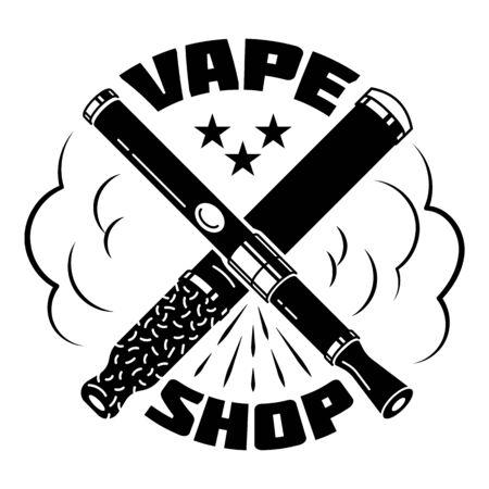 City vape shop, simple style