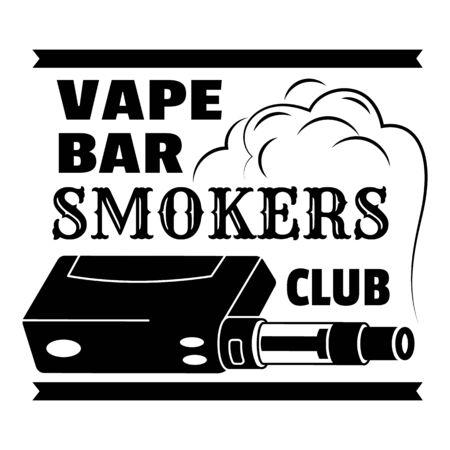 Smokers vape club, simple style  イラスト・ベクター素材