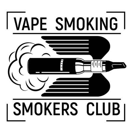 Vape smoking, simple style