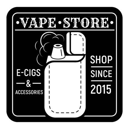 Vape store, simple style