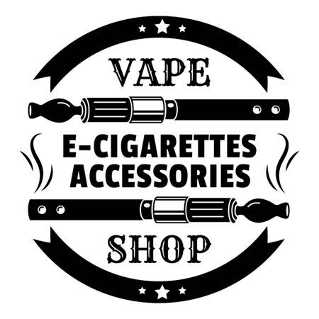 Modern vape shop, simple style