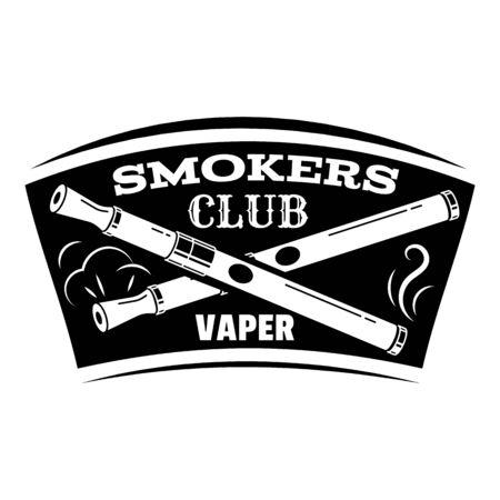 Vape smokers club, simple style  イラスト・ベクター素材