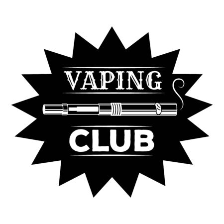 Vaping club, simple style
