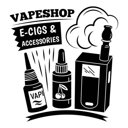Vapeshop accessories, simple style