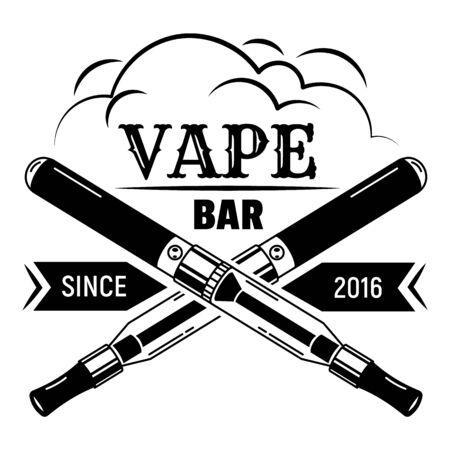 City vape bar, simple style  イラスト・ベクター素材