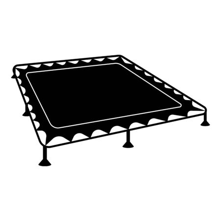 Trampoline icon, simple style