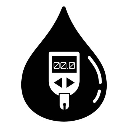 Glucose meter icon. Simple illustration of glucose meter vector icon for web design isolated on white background Banco de Imagens - 130256295
