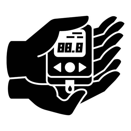 Glucometer icon, simple style