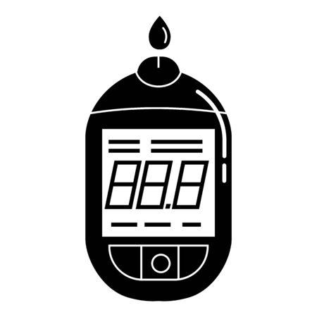 Digital glucometer icon. Simple illustration of digital glucometer vector icon for web design isolated on white background Banco de Imagens - 130256297