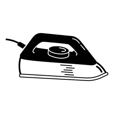 Retro flat iron icon, simple style