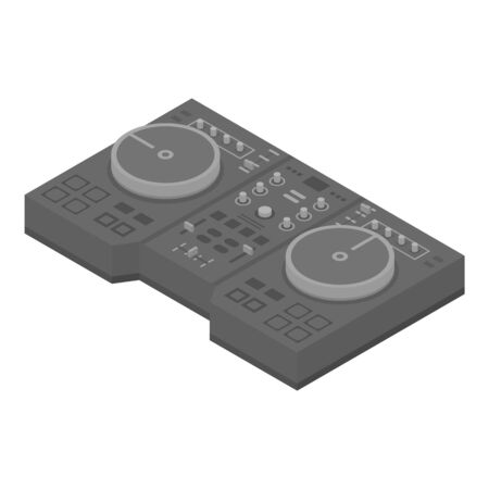Metal dj console icon. Isometric of metal dj console vector icon for web design isolated on white background