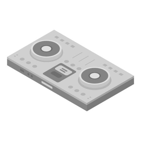 Dj concert deck icon, isometric style Illustration