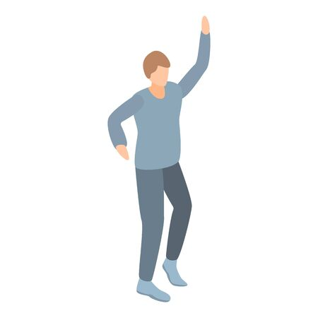 Student dancing icon. Isometric of student dancing vector icon for web design isolated on white background