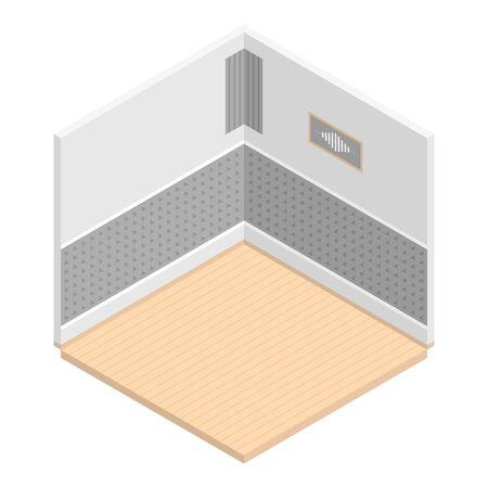 Empty room icon, isometric style