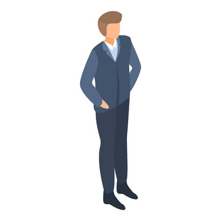 Businessman icon. Isometric of businessman vector icon for web design isolated on white background