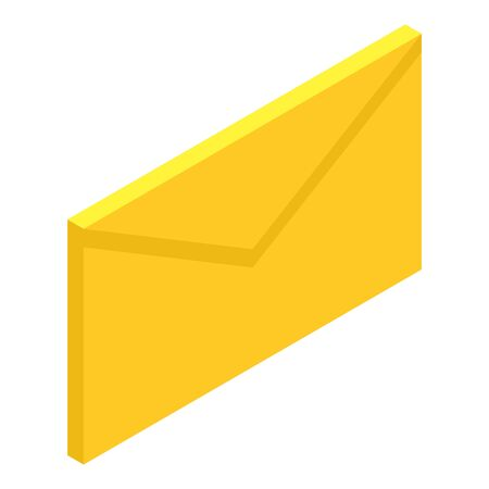 Mail icon, isometric style