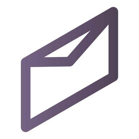 Mail letter icon, isometric style Ilustração