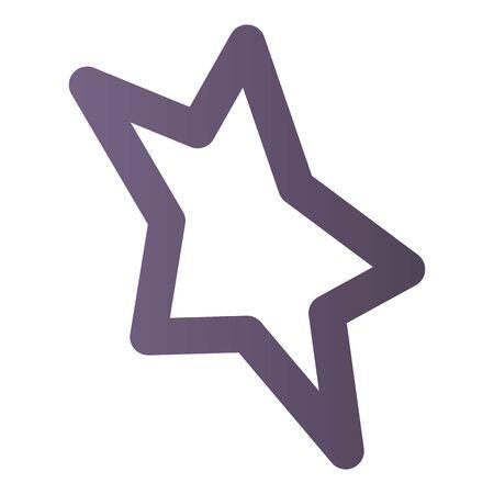 Star icon, isometric style