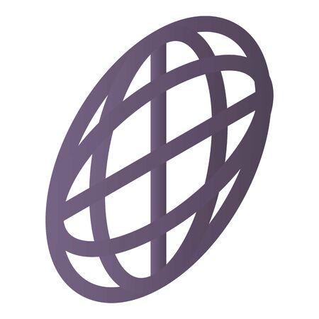 Globe icon, isometric style