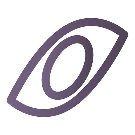 Human eye icon, isometric style
