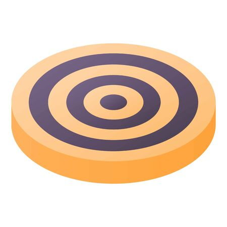 Yellow target icon, isometric style
