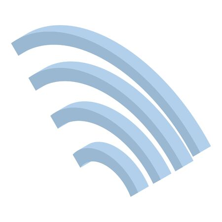 Wifi icon, isometric style Ilustração