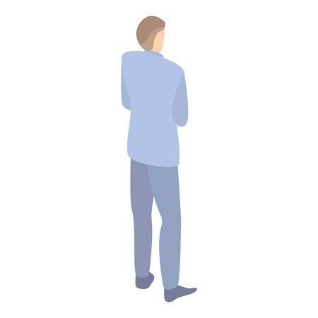 Company boss icon, isometric style