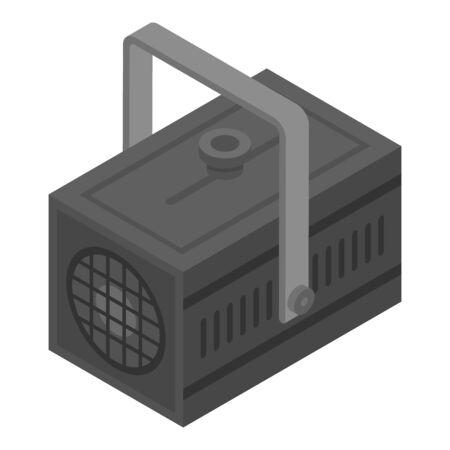 Spotlight icon, isometric style