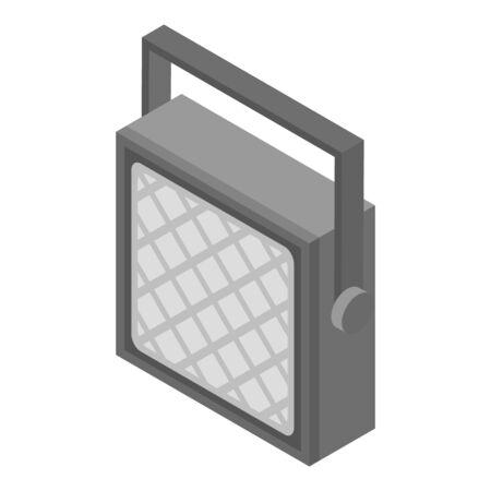 Spotlight lamp icon, isometric style Ilustração