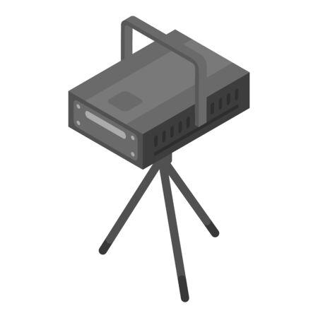 Laser spotlight icon, isometric style