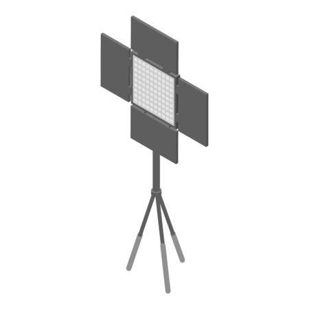 Photo studio spotlight icon. Isometric of photo studio spotlight vector icon for web design isolated on white background Illustration