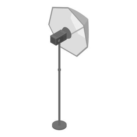 Reflector spotlight icon. Isometric of reflector spotlight vector icon for web design isolated on white background