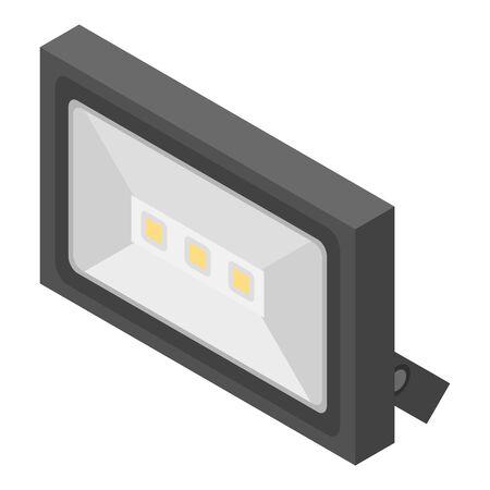 House led spotlight icon, isometric style