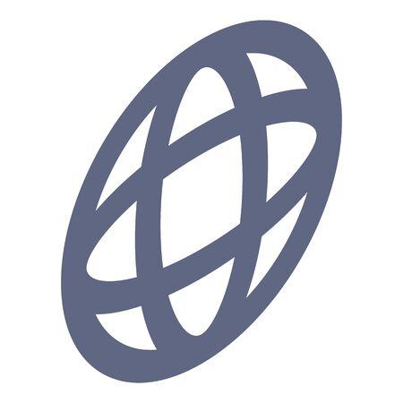 Global point icon, isometric style Ilustração