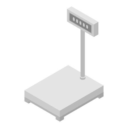 Digital scales icon, isometric style