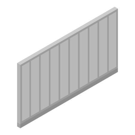 Metal fence icon. Isometric of metal fence vector icon for web design isolated on white background