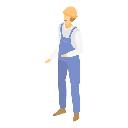 Warehouse worker icon. Isometric of warehouse worker vector icon for web design isolated on white background