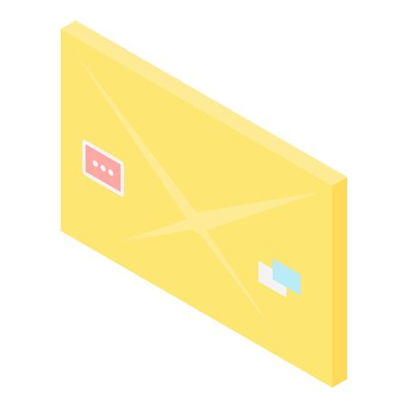 Mail letter icon, isometric style Illustration