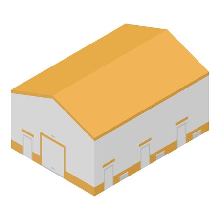 Port warehouse icon. Isometric of port warehouse vector icon for web design isolated on white background